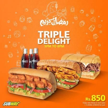 Sub way triple delight