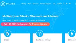 Dual Mine Earning website