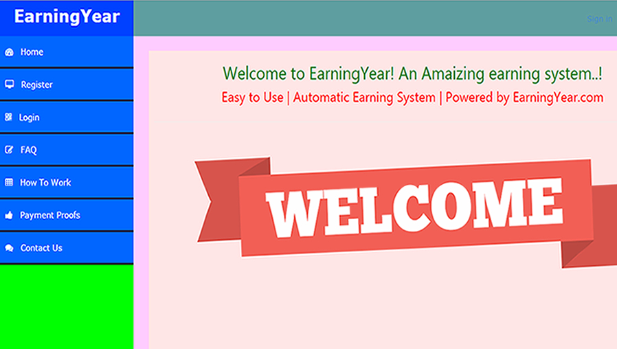Earning year