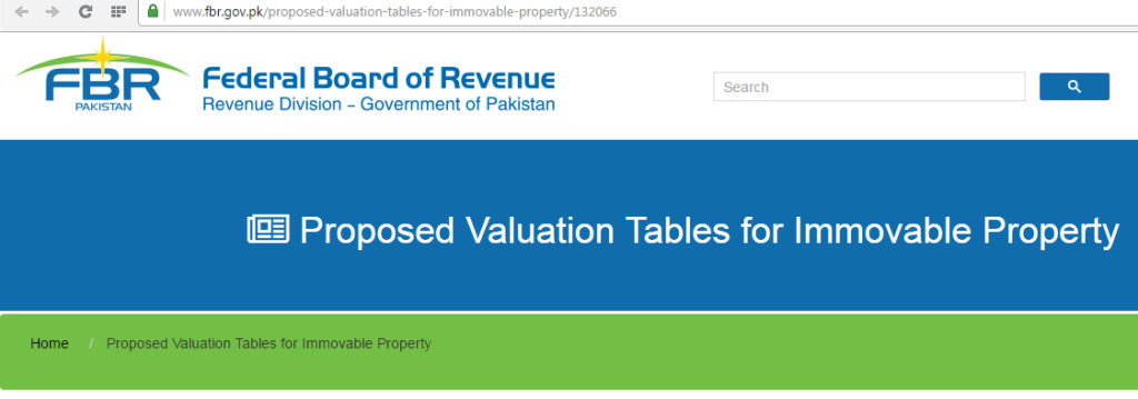 Proposed Valuation Tables for Immovable Property