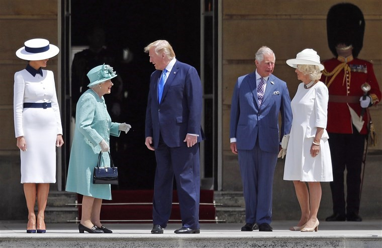 Trump arrives on a state visit to Britain