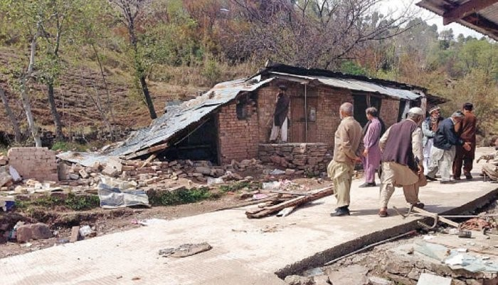 Land sliding in Swat kills more than five