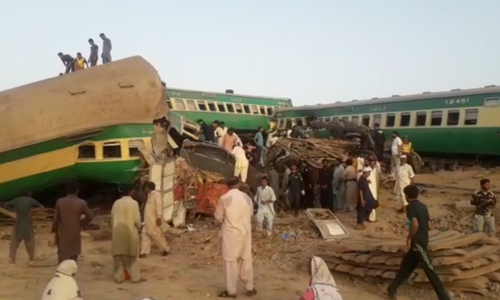 Train accident in Sadiqbabad takes 14 lives, several injured