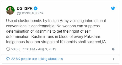 Indian initiates Cluster Bombing at LoC