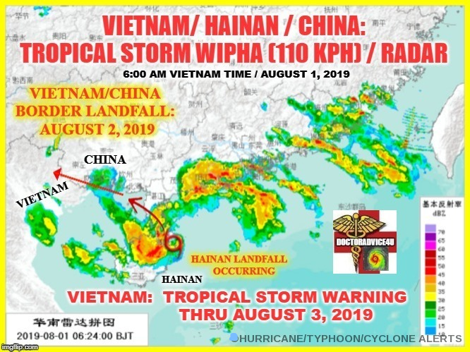 Tropical Storm Wipha hits Vietnam, five dead