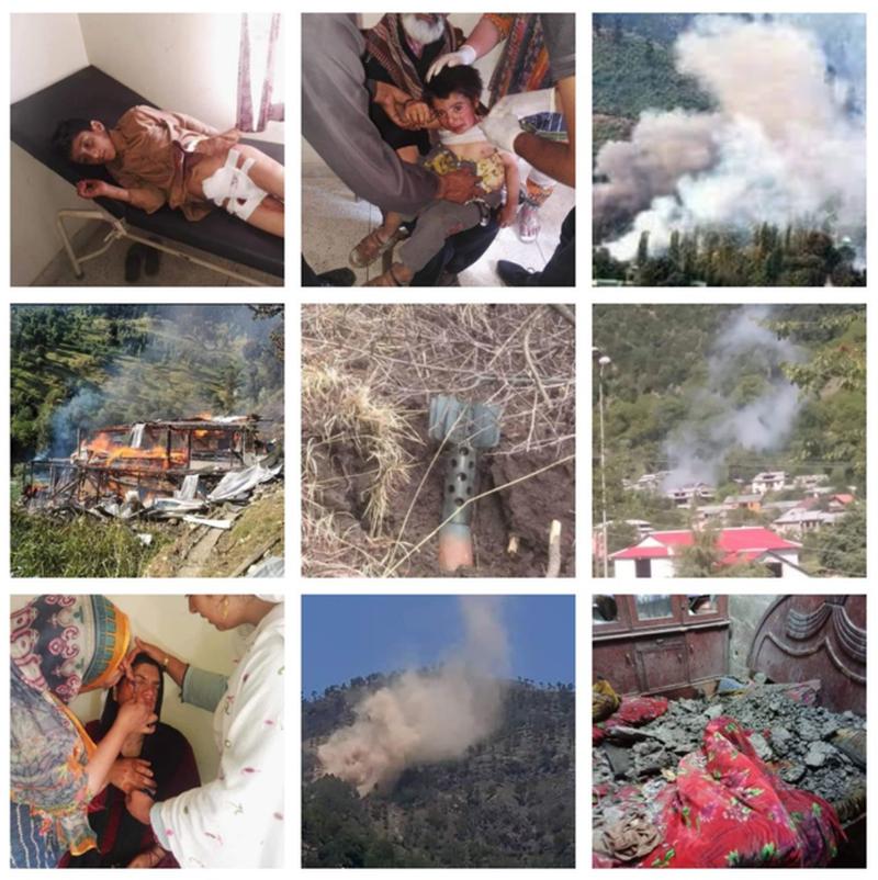Cluster bomb shelling across LoC