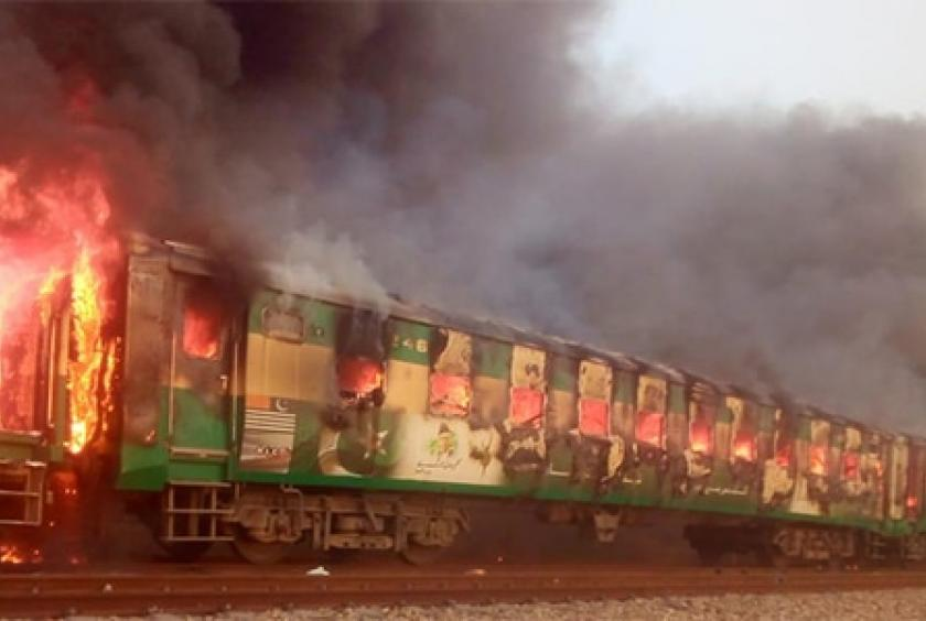 Tezgam train catches fire due to cylinder, 70+ casualties