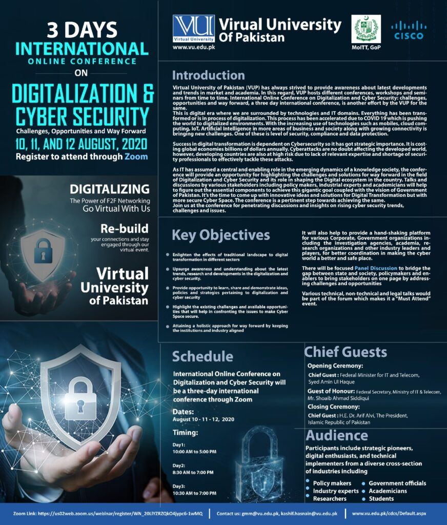 International Conference on Digitalization and Cyber Security: Challenges, Opportunities and Way Forward